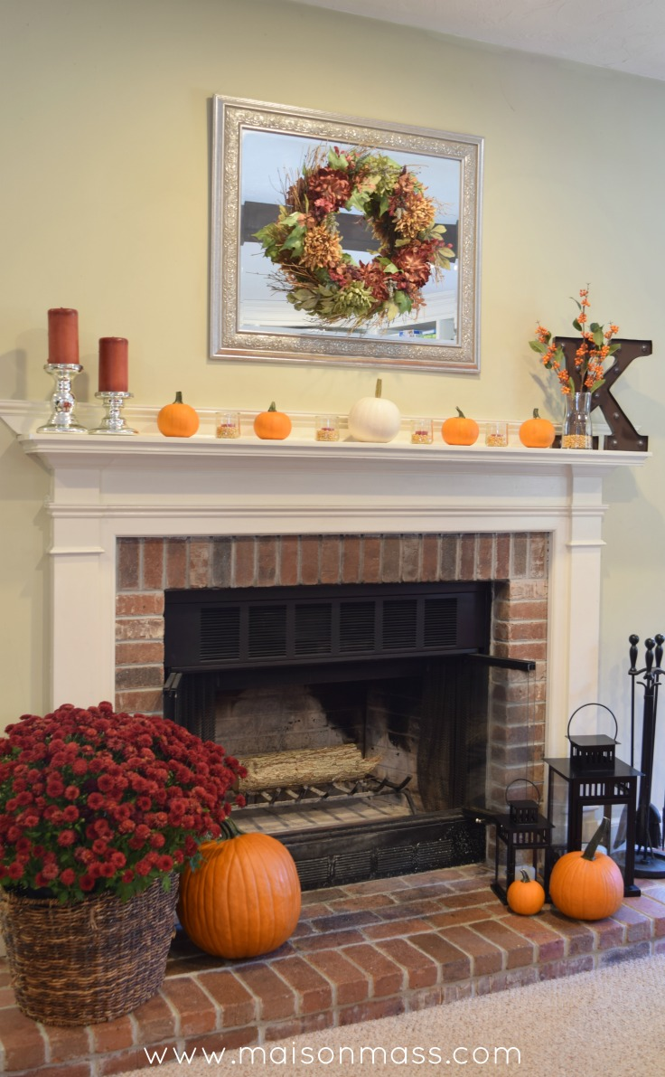 simple fall fireplace u2022 maison mass