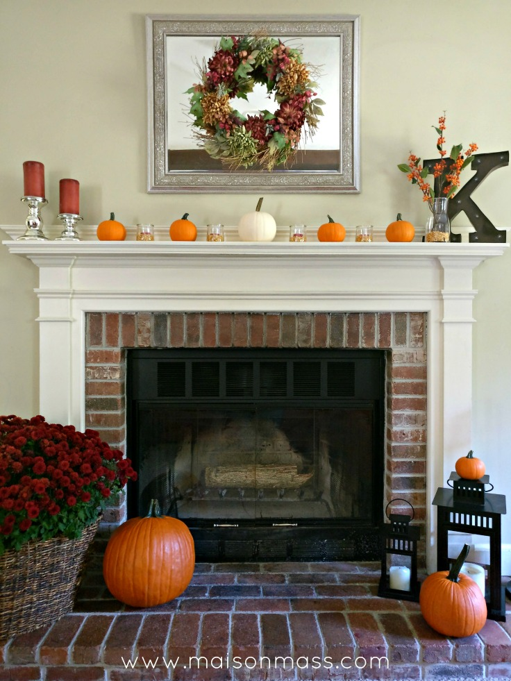 Simple Fall Fireplace Main