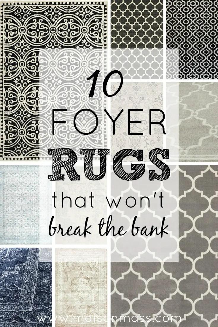 10 Foyer Rugs That Won't Break the Bank