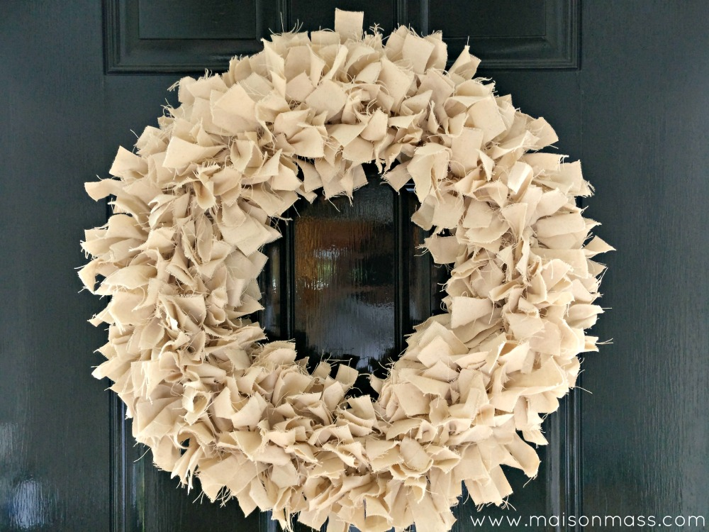 Paint it black wreath close up
