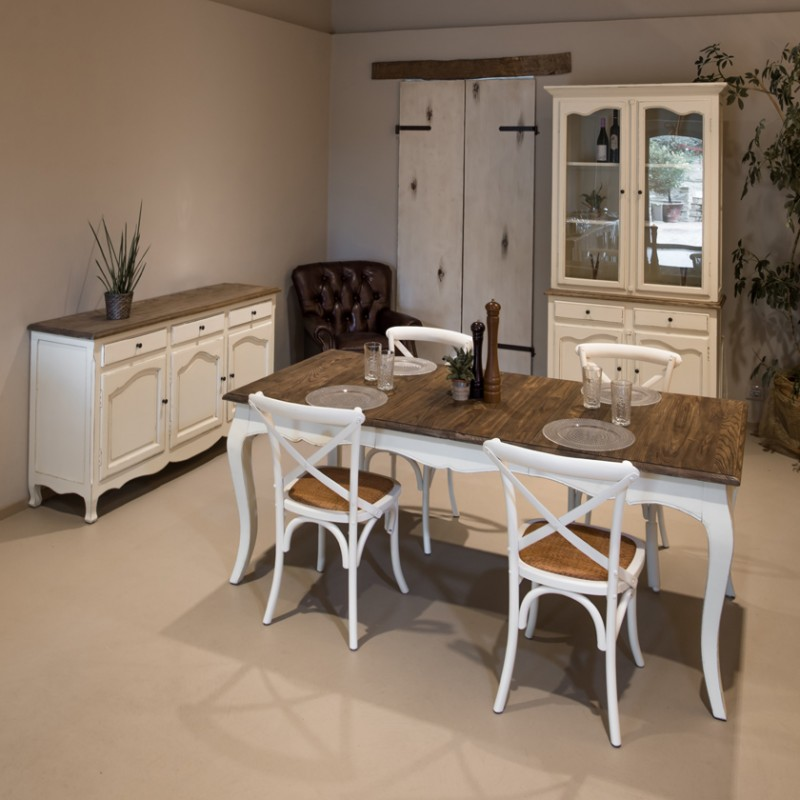 tavoli da esterno pieghevoli in stile shabby chic. Tavolo Da Pranzo Allungabile Bianco Shabby