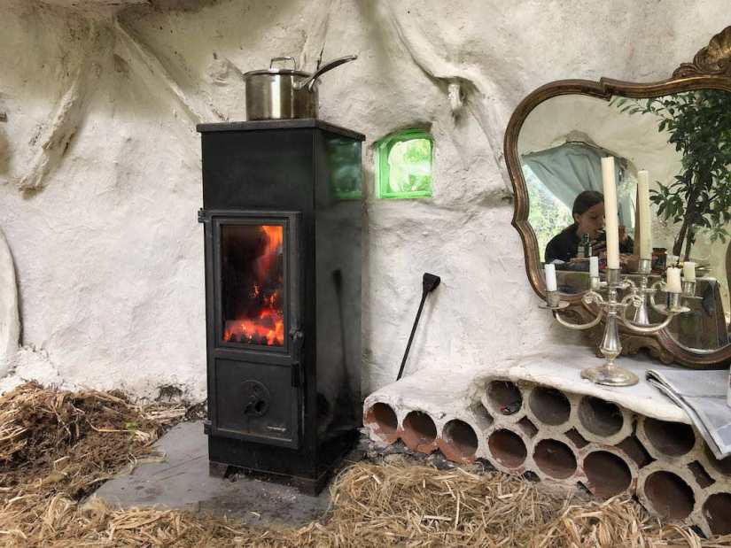 Le poêle de la Kerterre, pour cuisiner et se chauffer au bois