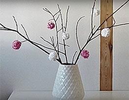 Fleurs décoratives en papier crépon