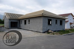 Construction maison 38 - installation charpente