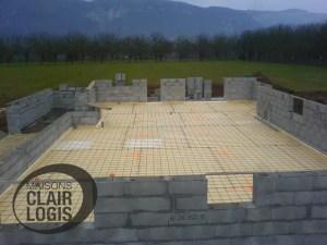 Phase maçonnerie - construction d'une maison