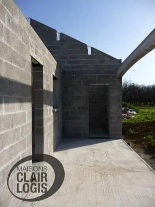 Elévation des murs - construction maison 38