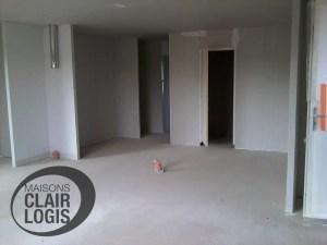 construction maison Orne - cloisons terminées