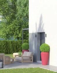 Maison individuelle City - Vue porte accès jardin
