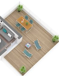 Plan 3D - Maison moderne Villa