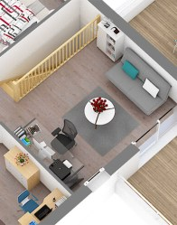 Vue mezzanine - Maison moderne Villa