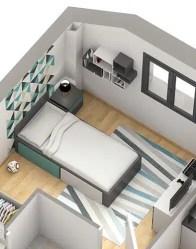 Maison individuelle Belledonne - chambre adolescent