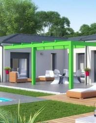 Maison moderne Cocoon - pergola
