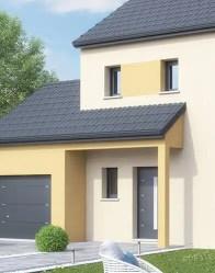 Maison individuelle Ginkgo - porche porte d'entrée