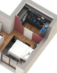 Plan maison 3D Onyx - Chambre parentale et dressing