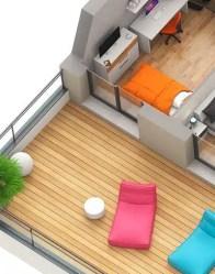 Maison contemporaine Onyx - toit terrasse