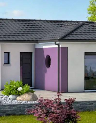 Plan maison moderne Zéphyr - maison plain pied