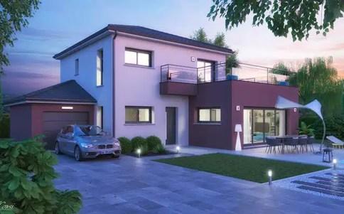 Maison moderne avec toiture terrasse