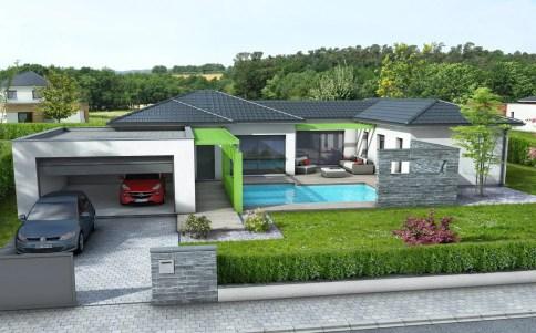 maison contemporaine OLIVINE - maison plain-pied