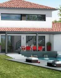 Maison contemporaine Ambre - terrasse couverte