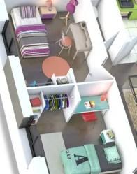 Plan maison 3D - espace nuit