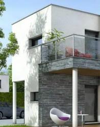 Maison toit plat Azur - maison cubique