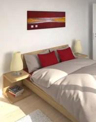 vue 3D chambre parentale - maison contemporaine