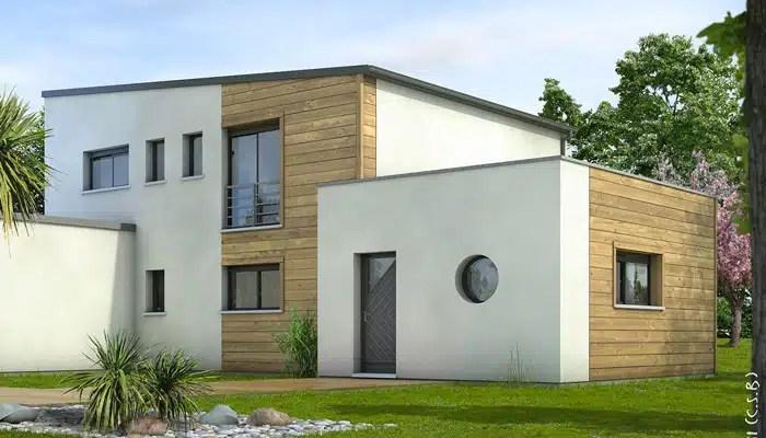 maison contemporaine - plan maison gratuit