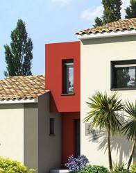Maison contemporaine avec toit plat