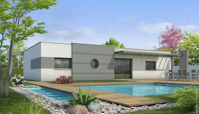 Plan de maison contemporaine Lys