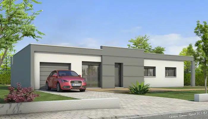 plan maison toit plat lys maisons clair logis. Black Bedroom Furniture Sets. Home Design Ideas