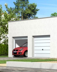 Maison contemporaine toit plat - double garage
