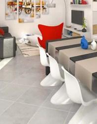 vue 3D salon/séjour - maison contemporaine