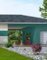 Maison contemporaine avec patio couvert