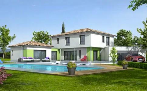 Plan maison contemporaine Turquoise