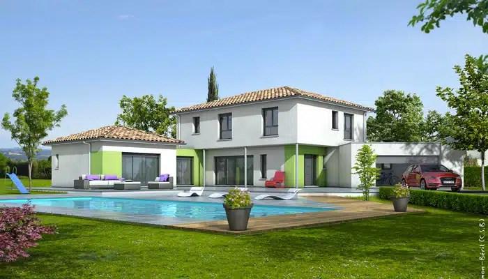 Découvrir Cette Maison · Plan Maison Contemporaine Turquoise