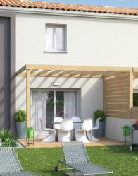 Pergola bois : Maison double Influence