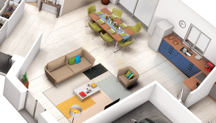 Maison familiale Tulipe - plan 3D