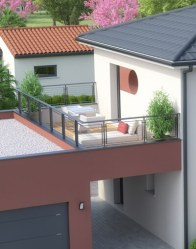 Maison individuelle Lodge - toit terrasse