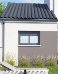 Maison individuelle Urban - menuiserie anthracite