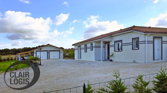 Nos maisons neuves maisons clair logis for Maison garage double