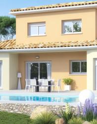 Maison moderne Lumio avec terrasse couverte
