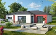 maison moderne ZEPHYR - enduit rouge