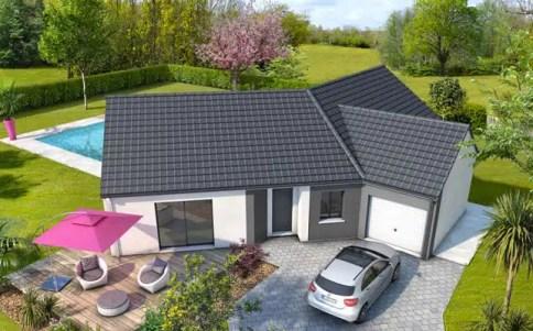 Plan maison gratuit - Style de maison moderne plain pied ...