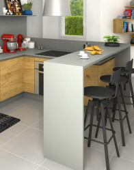vue 3D cuisine - Maison moderne Cévennes