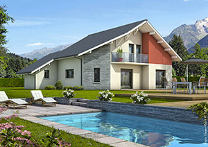 Maison moderne traditionnelle ou maison contemporaine for Plan de maison traditionnelle gratuit
