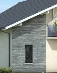 Maison moderne avec parement pierre