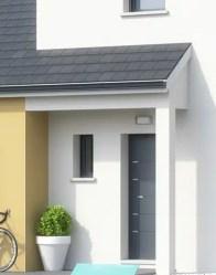 maison individuelle Lotus avec porche à l'entrée