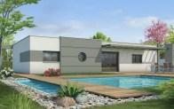 plan maison toit plat LYS