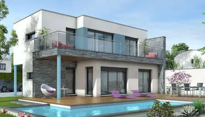 Maison Toit Plat Azur Plan Maison Contemporaine