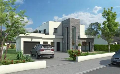 Maison toit plat Quartz - plan maison architecte